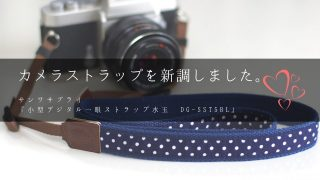 カメラ用ストラップを新調!サンワサプライ『小型デジタル一眼ストラップ』を買ったおはなし